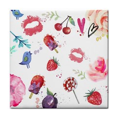 Hand Painted Summer Background  Face Towel