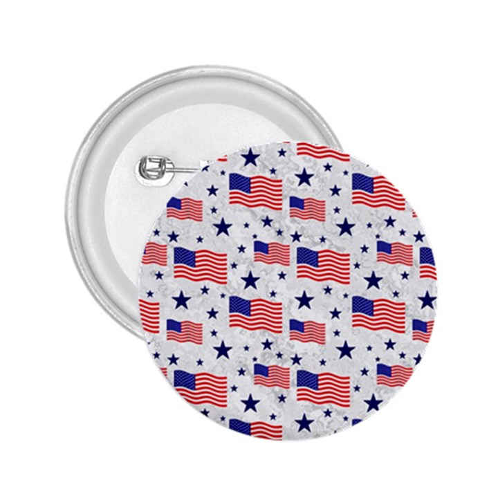 Flag Of The Usa Pattern 2.25  Buttons