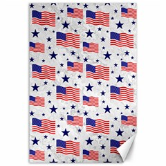 Flag Of The Usa Pattern Canvas 24  X 36