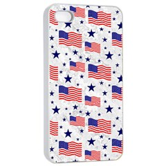 Flag Of The Usa Pattern Apple iPhone 4/4s Seamless Case (White)