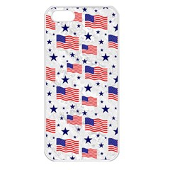 Flag Of The Usa Pattern Apple iPhone 5 Seamless Case (White)