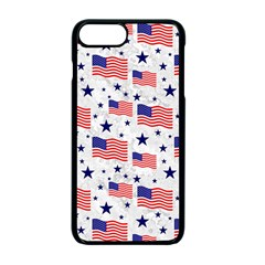 Flag Of The Usa Pattern Apple Iphone 7 Plus Seamless Case (black)