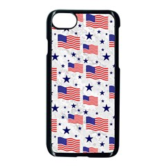 Flag Of The Usa Pattern Apple Iphone 7 Seamless Case (black)