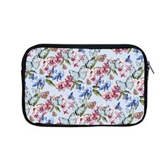 Watercolor Flowers Butterflies Pattern Blue Red Apple Macbook Pro 13  Zipper Case