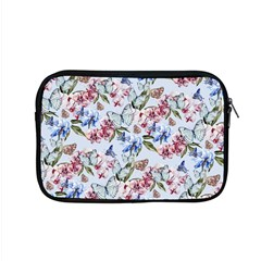 Watercolor Flowers Butterflies Pattern Blue Red Apple Macbook Pro 15  Zipper Case