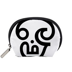 Hindu Om Symbol in Tamil Accessory Pouches (Small)