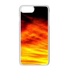 Black Yellow Red Sunset Apple Iphone 7 Plus White Seamless Case