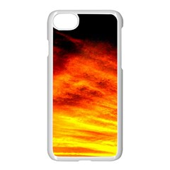 Black Yellow Red Sunset Apple Iphone 7 Seamless Case (white)