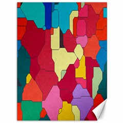Colorful leather pieces             Canvas 36  x 48