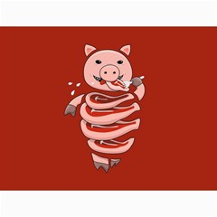 Red Stupid Self Eating Gluttonous Pig Canvas 12  X 16