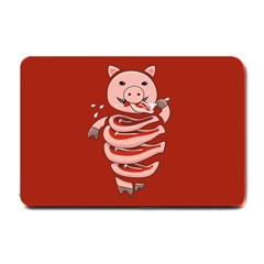 Red Stupid Self Eating Gluttonous Pig Small Doormat