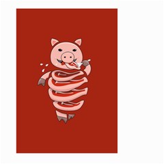 Red Stupid Self Eating Gluttonous Pig Large Garden Flag (Two Sides)