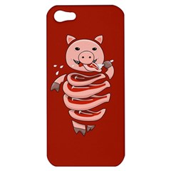 Red Stupid Self Eating Gluttonous Pig Apple Iphone 5 Hardshell Case