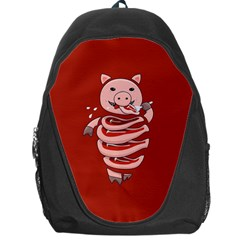 Red Stupid Self Eating Gluttonous Pig Backpack Bag