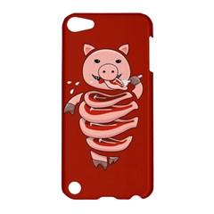 Red Stupid Self Eating Gluttonous Pig Apple Ipod Touch 5 Hardshell Case