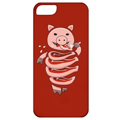 Red Stupid Self Eating Gluttonous Pig Apple Iphone 5 Classic Hardshell Case