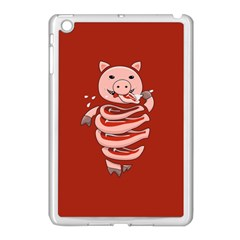 Red Stupid Self Eating Gluttonous Pig Apple Ipad Mini Case (white)