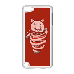 Red Stupid Self Eating Gluttonous Pig Apple Ipod Touch 5 Case (white)