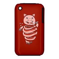 Red Stupid Self Eating Gluttonous Pig Iphone 3s/3gs