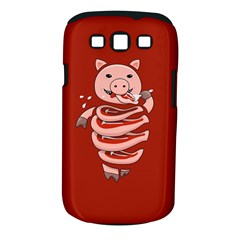 Red Stupid Self Eating Gluttonous Pig Samsung Galaxy S Iii Classic Hardshell Case (pc+silicone)