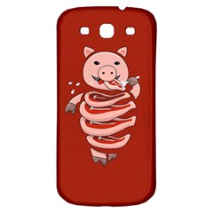 Red Stupid Self Eating Gluttonous Pig Samsung Galaxy S3 S Iii Classic Hardshell Back Case