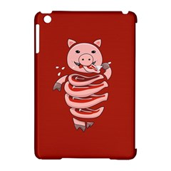 Red Stupid Self Eating Gluttonous Pig Apple Ipad Mini Hardshell Case (compatible With Smart Cover)