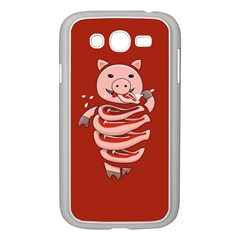 Red Stupid Self Eating Gluttonous Pig Samsung Galaxy Grand Duos I9082 Case (white)
