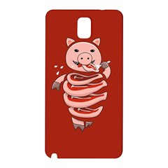Red Stupid Self Eating Gluttonous Pig Samsung Galaxy Note 3 N9005 Hardshell Back Case