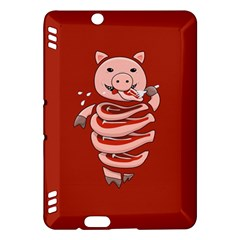 Red Stupid Self Eating Gluttonous Pig Kindle Fire HDX Hardshell Case