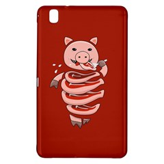 Red Stupid Self Eating Gluttonous Pig Samsung Galaxy Tab Pro 8.4 Hardshell Case