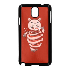 Red Stupid Self Eating Gluttonous Pig Samsung Galaxy Note 3 Neo Hardshell Case (black)