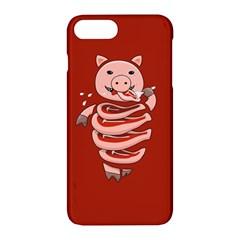 Red Stupid Self Eating Gluttonous Pig Apple Iphone 7 Plus Hardshell Case