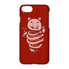 Red Stupid Self Eating Gluttonous Pig Apple Iphone 7 Hardshell Case