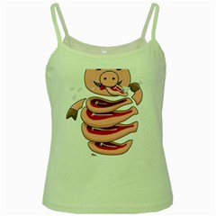 Stupid Gluttonous Self Eating Pig Green Spaghetti Tank