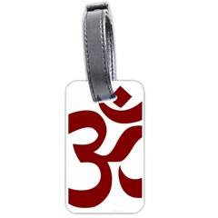 Hindu Om Symbol (dark Red) Luggage Tags (one Side)