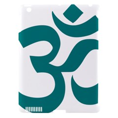 Hindu Om Symbol (Teal) Apple iPad 3/4 Hardshell Case (Compatible with Smart Cover)