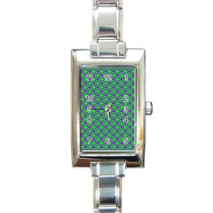 Friendly Retro Pattern A Rectangle Italian Charm Watch