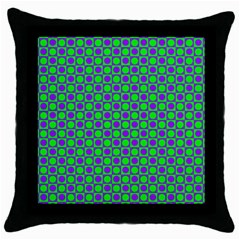 Friendly Retro Pattern A Throw Pillow Case (Black)