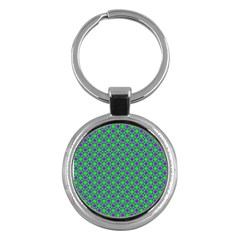 Friendly Retro Pattern A Key Chains (Round)