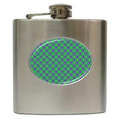 Friendly Retro Pattern A Hip Flask (6 oz)