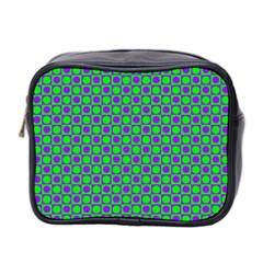 Friendly Retro Pattern A Mini Toiletries Bag 2-Side