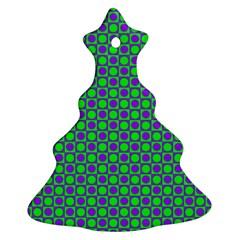 Friendly Retro Pattern A Ornament (Christmas Tree)