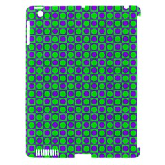 Friendly Retro Pattern A Apple iPad 3/4 Hardshell Case (Compatible with Smart Cover)