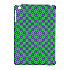 Friendly Retro Pattern A Apple iPad Mini Hardshell Case (Compatible with Smart Cover)