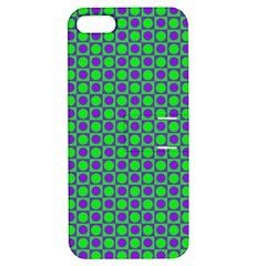 Friendly Retro Pattern A Apple iPhone 5 Hardshell Case with Stand