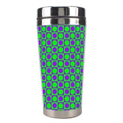 Friendly Retro Pattern A Stainless Steel Travel Tumblers