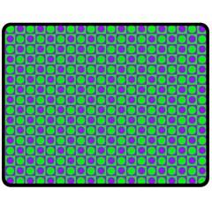Friendly Retro Pattern A Double Sided Fleece Blanket (medium)