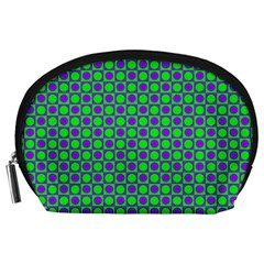 Friendly Retro Pattern A Accessory Pouches (Large)
