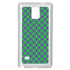 Friendly Retro Pattern A Samsung Galaxy Note 4 Case (White)