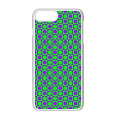 Friendly Retro Pattern A Apple Iphone 7 Plus White Seamless Case